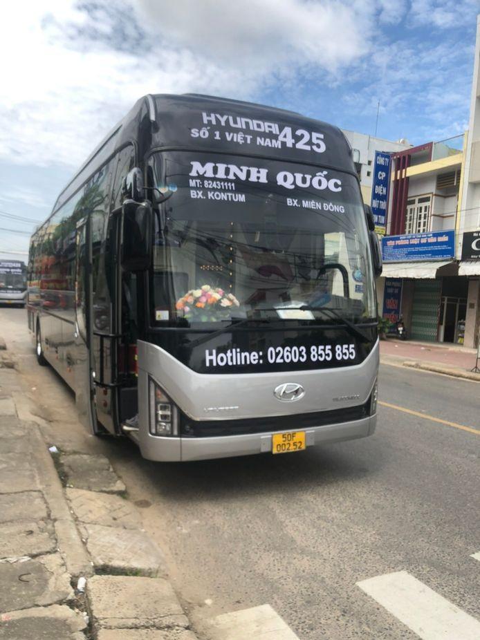 Xe Minh Quốc đi Kon Tum